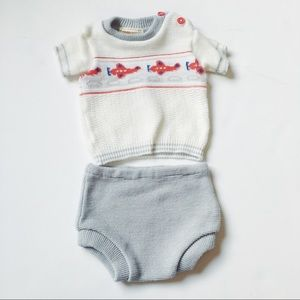 Other - Vintage baby boy knit bloomers and shirt💞